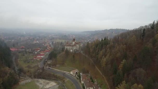 Film lövés, mint a korpa vár Drakulákkal Transylvania (Románia)