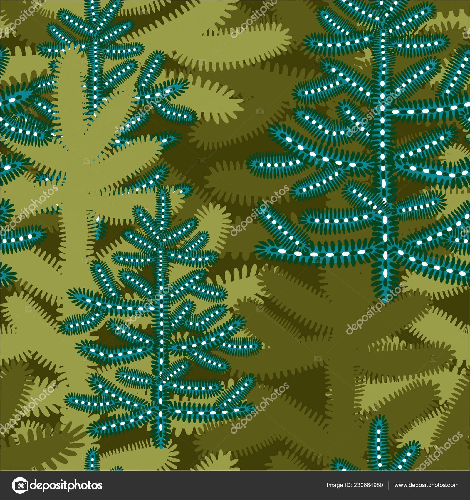Dibujos De Arboles De Navidad Pintados.Dibujos Animados Invierno De Patrones Sin Fisuras Con Los