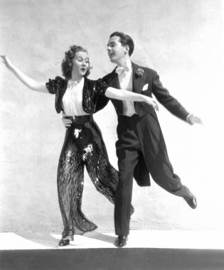 Young couple dancing ,black and white