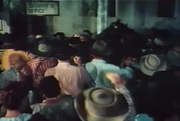 Rozzuřený dav útok kanceláře šerifa, v roce 1960