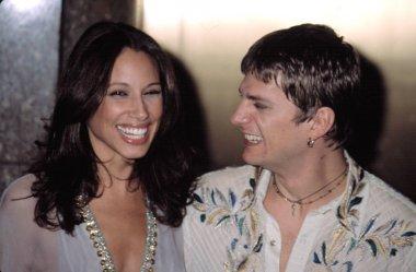 Rob Thomas of Matchbox 20 and wife Marisol at VH1 VOGUE FASHION AWARDS, NY 10/15/2002, by CJ Contino