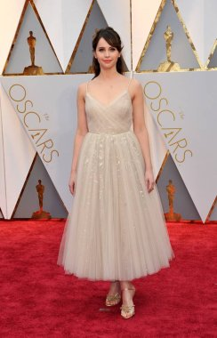 Felicity Jones (wearing Dior) at arrivals for The 89th Academy Awards Oscars 2017 - Arrivals 3, The Dolby Theatre at Hollywood and Highland Center, Los Angeles, CA February 26, 2017. Photo By: Elizabeth Goodenough/Everett Collection