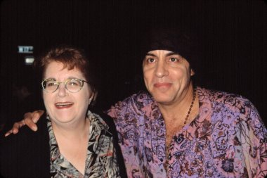 Steven Van Zandt and his mother at DENIS LEARY FIREFIGHTERS FOUNDATION BENEFIT, NY 10/15/2001, by CJ Contino