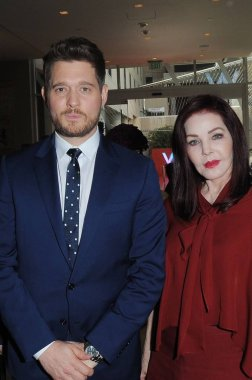 Michael Buble, Pricilla Presley at the induction ceremony for Star on the Hollywood Walk of Fame for Michael Buble, Hollywood Boulevard, Los Angeles, CA November 16, 2018. Photo By: Michael Germana/Everett Collection