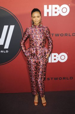 Thandie Newton (wearing Osman) at arrivals for HBO''s WESTWORLD Second Season Premiere, Cinerama Dome, Los Angeles, CA April 16, 2018. Photo By: Elizabeth Goodenough/Everett Collection
