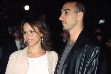 Rosie Perez and husband Seth Rosenberg at DENIS LEARY FIREFIGHTERS FOUNDATION BENEFIT, NY 10/15/2001, by CJ Contino