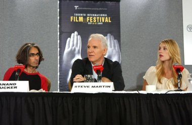 Anand Tucker, Steve Martin , Claire Danes at the press conference for SHOPGIRL Toronto Film Festival World Premiere, Sutton Place Hotel, Toronto, ON, September 09, 2005. Photo by: Tom Sandler/Everett Collection