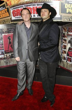 Quentin Tarantino, Robert Rodriguez at arrivals for GRINDHOUSE Los Angeles Premiere, Orpheum Theatre, Los Angeles, CA, March 26, 2007. Photo by: Michael Germana/Everett Collection