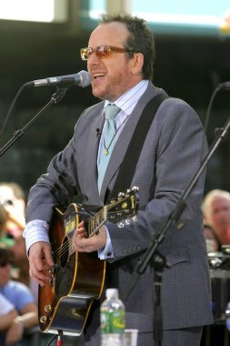 Elvis Costello on stage for NBC Today Show Concert Series with Elvis Costello, Rockefeller Center, New York, NY, July 22, 2005. Photo by: Gregorio Binuya/Everett Collection