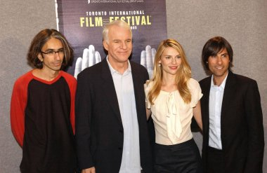 Anand Tucker , Steve  Martin, Claire Danes, Jason Schwartzman at the press conference for SHOPGIRL Toronto Film Festival World Premiere, Sutton Place Hotel, Toronto, ON, September 09, 2005. Photo by: Tom Sandler/Everett Collection