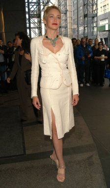 Actress Sharon Stone arrives at the Concerned Parents for AIDS Research Spring Luncheon April 22, 2004 held at The Mandarin Oriental in New York