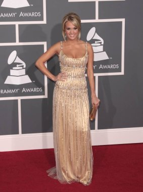 Carrie Underwood (wearing a Zuhair Murad gown) at arrivals for 51st Annual Grammy Awards - ARRIVALS, Staples Center, Los Angeles, CA 2/8/2009. Photo By: James Amherst/Everett Collection/Everett Collection