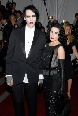 Marilyn Manson, Dita Von Teese at arrivals for AngloMania: Tradition and Transgression in British Fashion Opening Gala, The Metropolitan Museum of Art Costume Institute, New York, NY, May 01, 2006. Photo by: Gregorio Binuya/Everett Collection