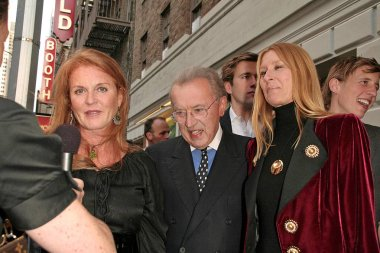 Sarah Ferguson, Sir David Frost, Lady Carina Frost at arrivals for FROST/NIXON Opening Night on Broadway, Bernard B. Jacobs Theater, New York, NY, April 22, 2007. Photo by: Steve Mack/Everett Collection
