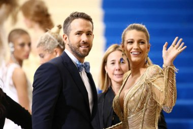 Ryan Reynolds, Blake Lively at arrivals for Rei Kawakubo & Comme des Garcons Costume Institute Gala - ARRIVALS 1, Metropolitan Museum of Art, New York, NY May 1, 2017. Photo By: John Nacion/Everett Collection