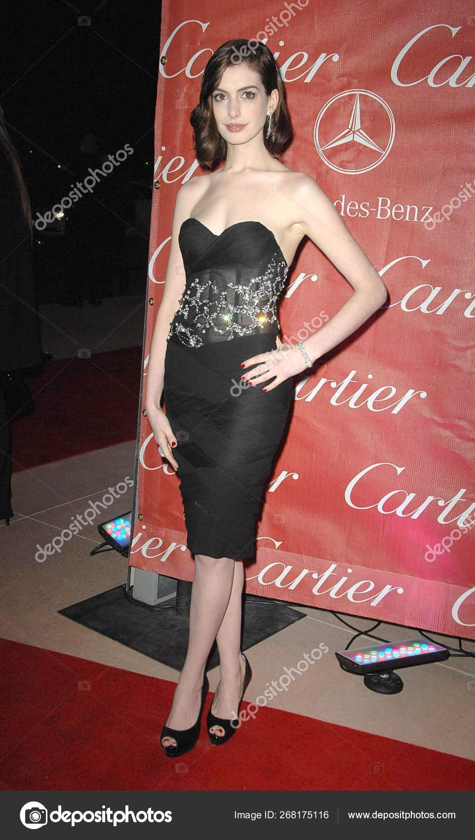 release info on unique design pick up Anne Hathaway Wearing Balmain Dress Arrivals 20Th Annual ...