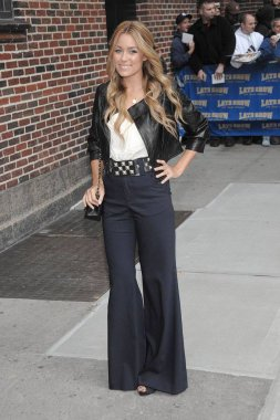 Lauren Conrad (wearing a Mike & Chris jacket and Alice + Olivia pants) at talk show appearance for MON - The Late Show with David Letterman, Ed Sullivan Theatre, New York, NY, October 27, 2008. Photo by: Lee/Everett Collection