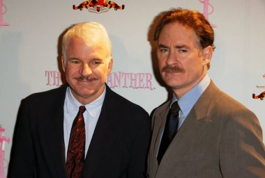 Actor Steve Martin and actor Kevin Kline attend THE PINK PANTHER start of production press conference at the Waldorf Astoria Hotel May 7, 2004 in New York City.    (Photo by Matthew Peyton/Everett Collectio