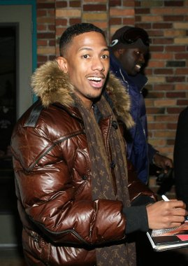 Nick Cannon (wearing Louis Vuitton scarf) out and about for THU - Sundance Film Festival Candids, Park City, Park City, UT, January 15, 2009. Photo by: James Atoa/Everett Collection
