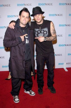 Joel Madden,Benji at arrivals for TEEN VOGUE Young Hollywood Issue Party, The Hollywood Roosevelt Hotel, Los Angeles, CA, September 20, 2005. Photo by: David Longendyke/Everett Collection