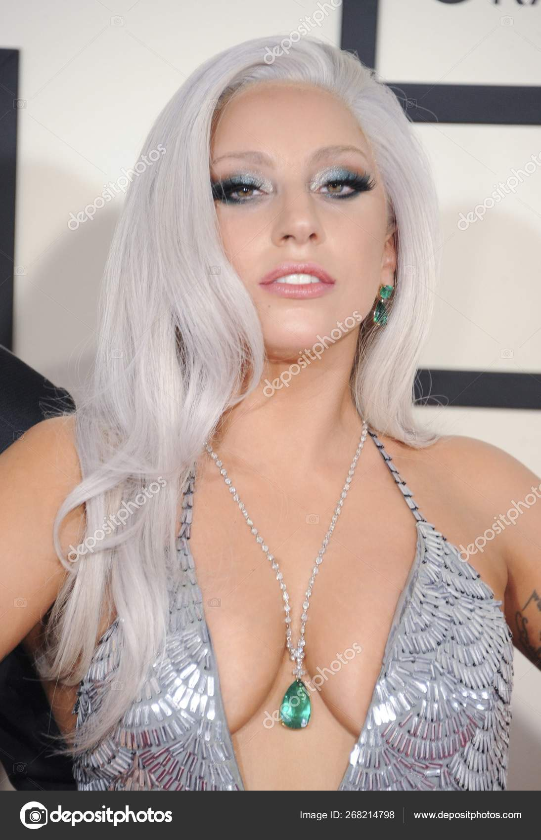 United Kingdom Out Lady Gaga Arrivals 57th Annual Grammy Awards Stock Editorial Photo C Everett225 268214798