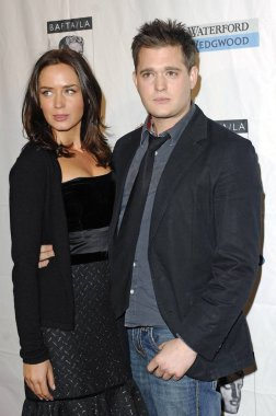 Emily Blunt, Michael Buble at arrivals for BAFTA British Academy of Film and Television Arts LA Tea Party, Four Seasons Hotel, Los Angeles, CA, January 14, 2007. Photo by: Michael Germana/Everett Collection