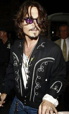Johnny Depp at talk show appearance for The Late Show with David Letterman, The Ed Sullivan Theater, New York, NY, July 27, 2006. Photo by: Amy Sussman/Everett Collection