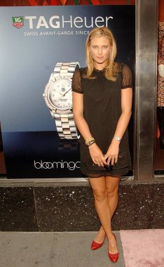 Maria Sharapova at arrivals for TAG HEUER Watch Launch Party for The Maria Sharapova Foundation, Bloomingdale''s department store, New York, NY, August 22, 2006. Photo by: William D. Bird/Everett Collection