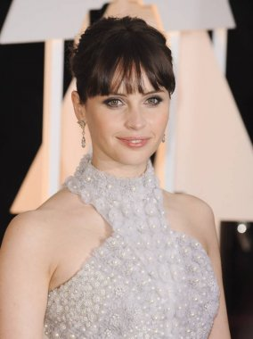 Felicity Jones  for The 87th Academy Awards Oscars 2015 - Arrivals 2, The Dolby Theatre at Hollywood and Highland Center, Los Angeles, CA February 22, 2015. Photo By: Elizabeth Goodenough/Everett Collection