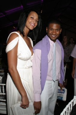 Rozonda  Chilli  Thomas, Usher inside for RUSH Philanthropic Arts Foundation ART FOR LIFE Benefit, Estate of Russell and Kimora Lee Simmons, East Hampton, NY,July 30, 2005. Photo by: Rob Rich/Everett Collection