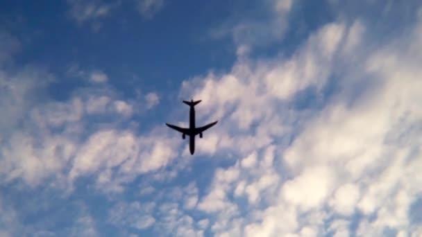 Flugzeug landet Urlaub Sonnenuntergang