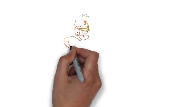hasič spuštěné animace požár