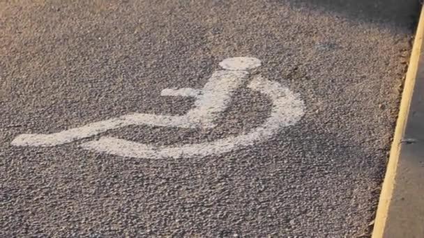 Behinderte Asphalt Zeichen Symbol Hintergrund