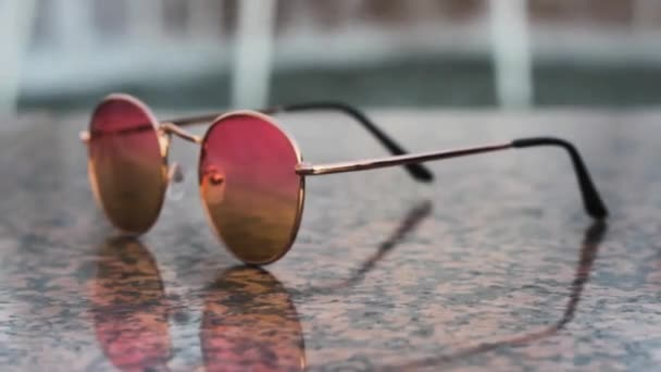 rosa Sonnenbrille Hipster Fashion Party