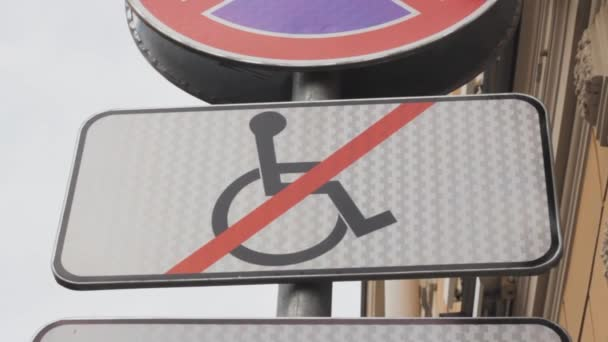 sign disabled is prohibited  handicapped