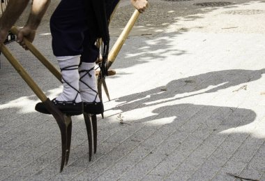 Dance with stilts, traditional Navarrese dance, parties