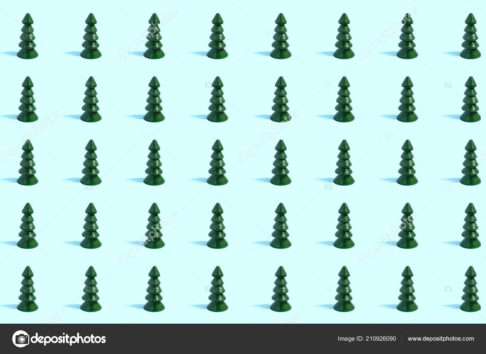 Pattern For Wood Christmas Tree Pattern Small Wooden Christmas Trees Pastel Blue Background Minimal Style Stock Photo C 13 Smile 210926090