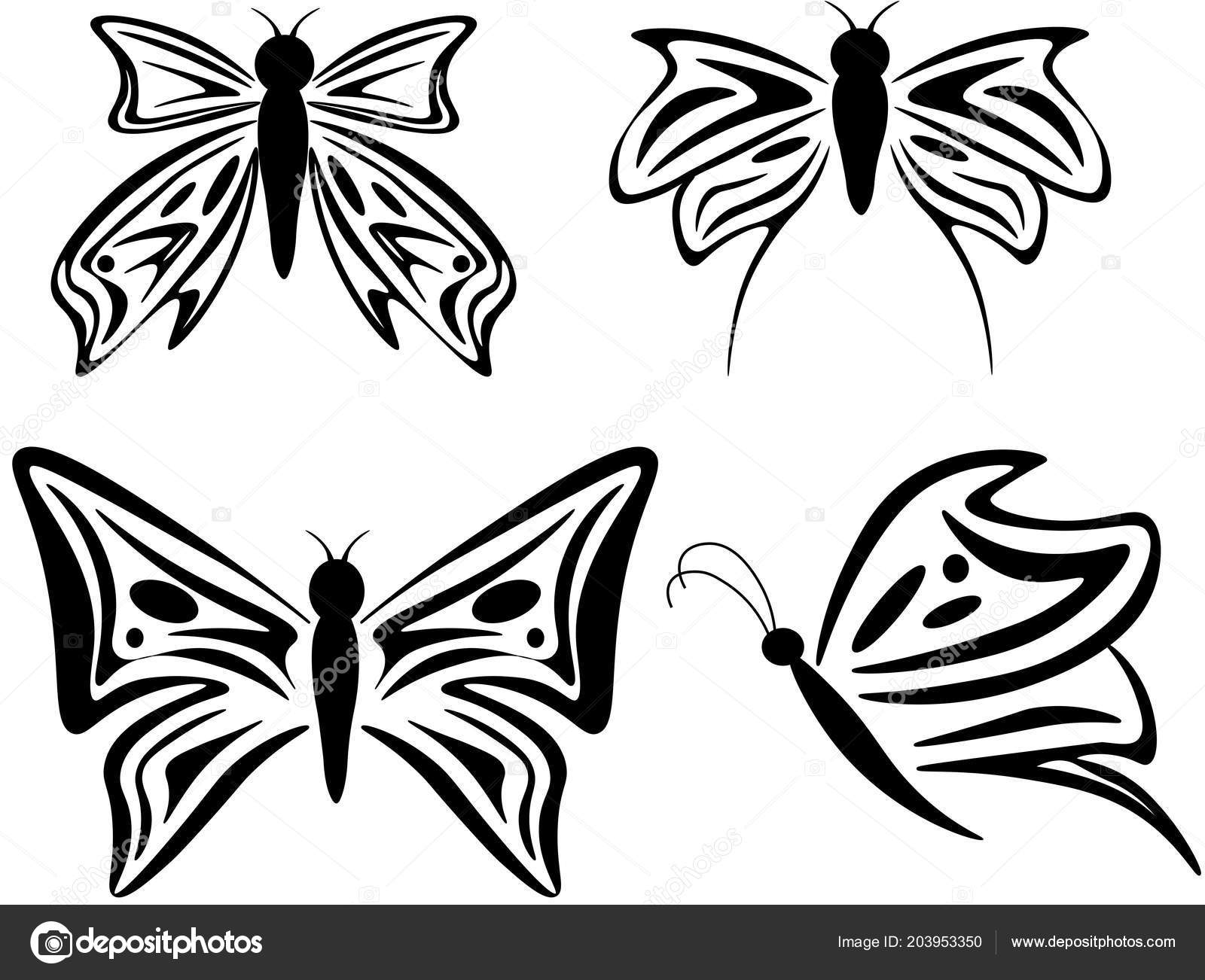 Mariposas Vector Blanco Negro