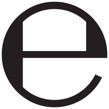 Estimated sign packaging symbol icon