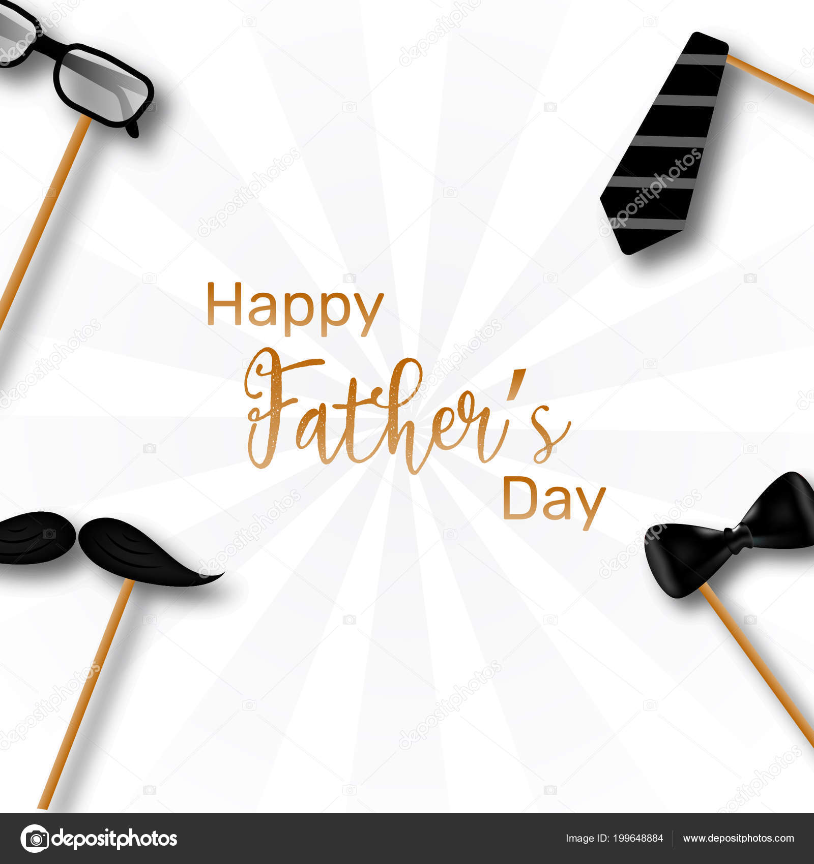 happy father day template poster card design illustration necktie