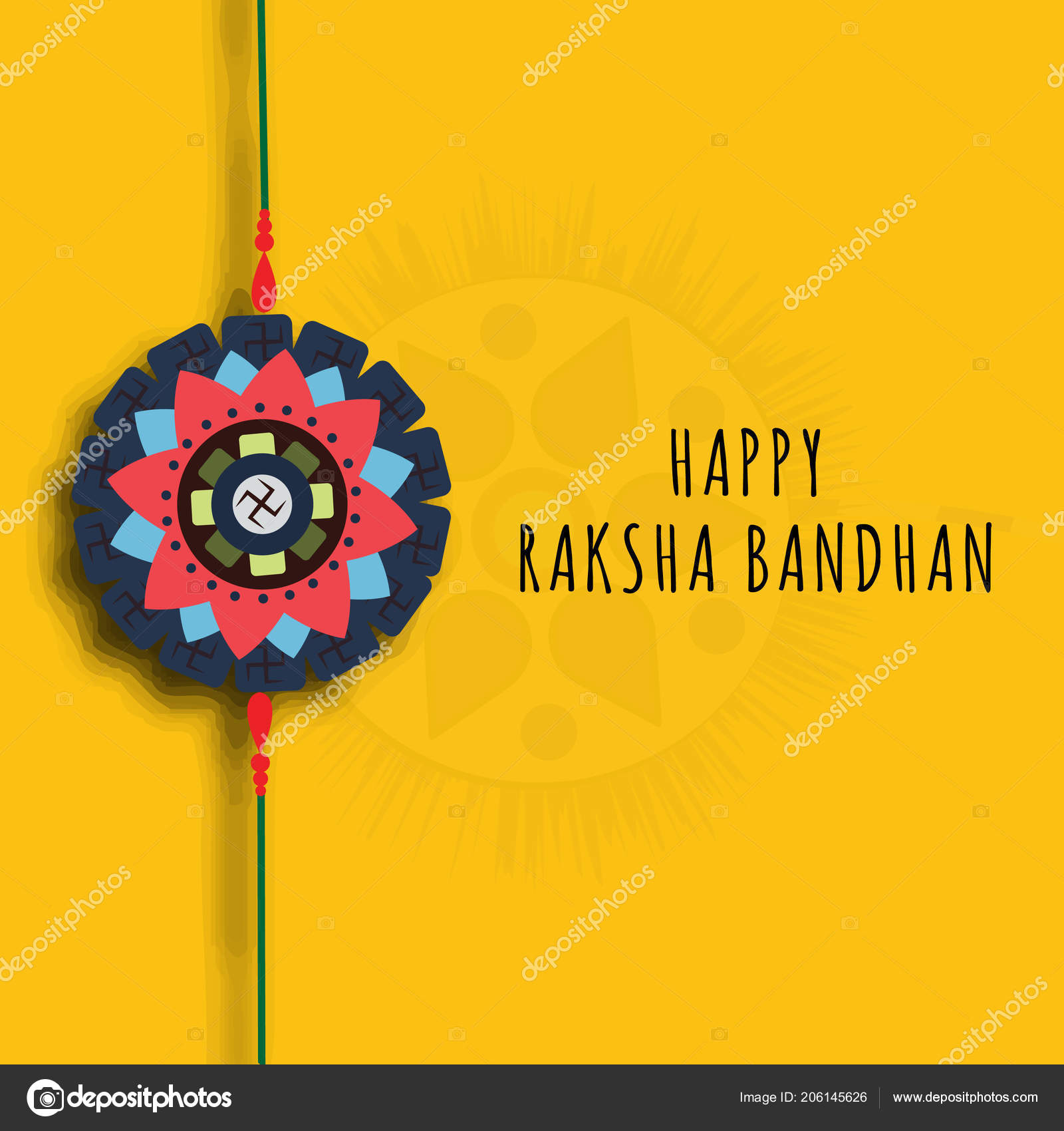 Happy Raksha Bandhan Greeting Card Poster Background Design Banner