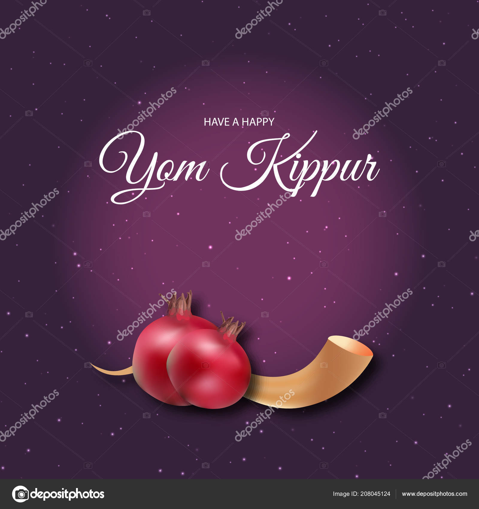 Jewish Holiday Yom Kippur Vector Illustration Stock Vector