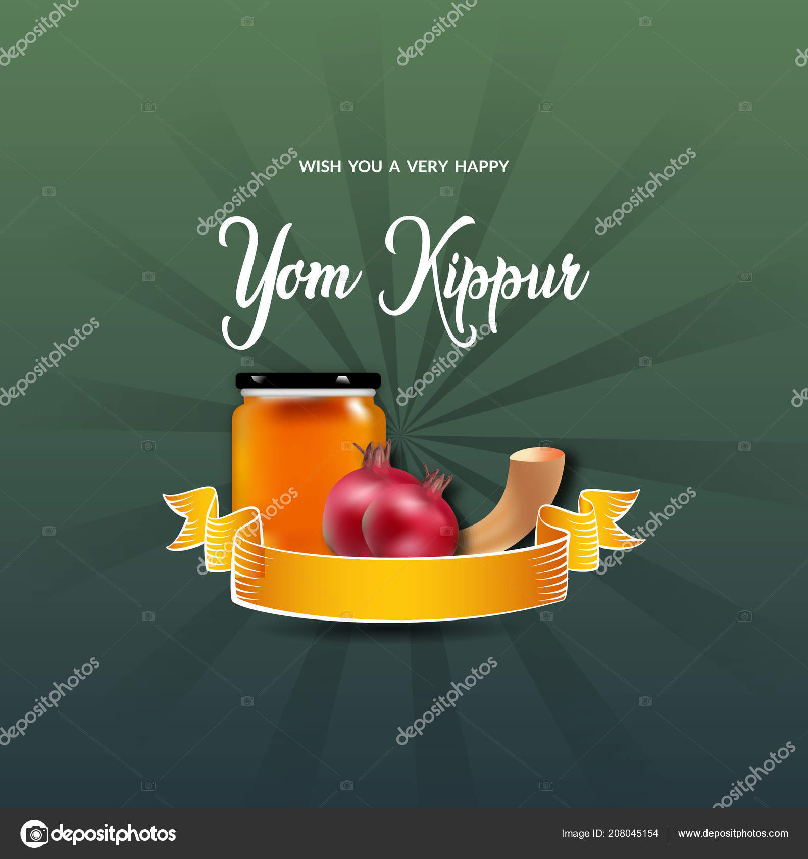 Yom Kippur Flyer Card Wallpaer Design Jewish Holiday Stock Vector