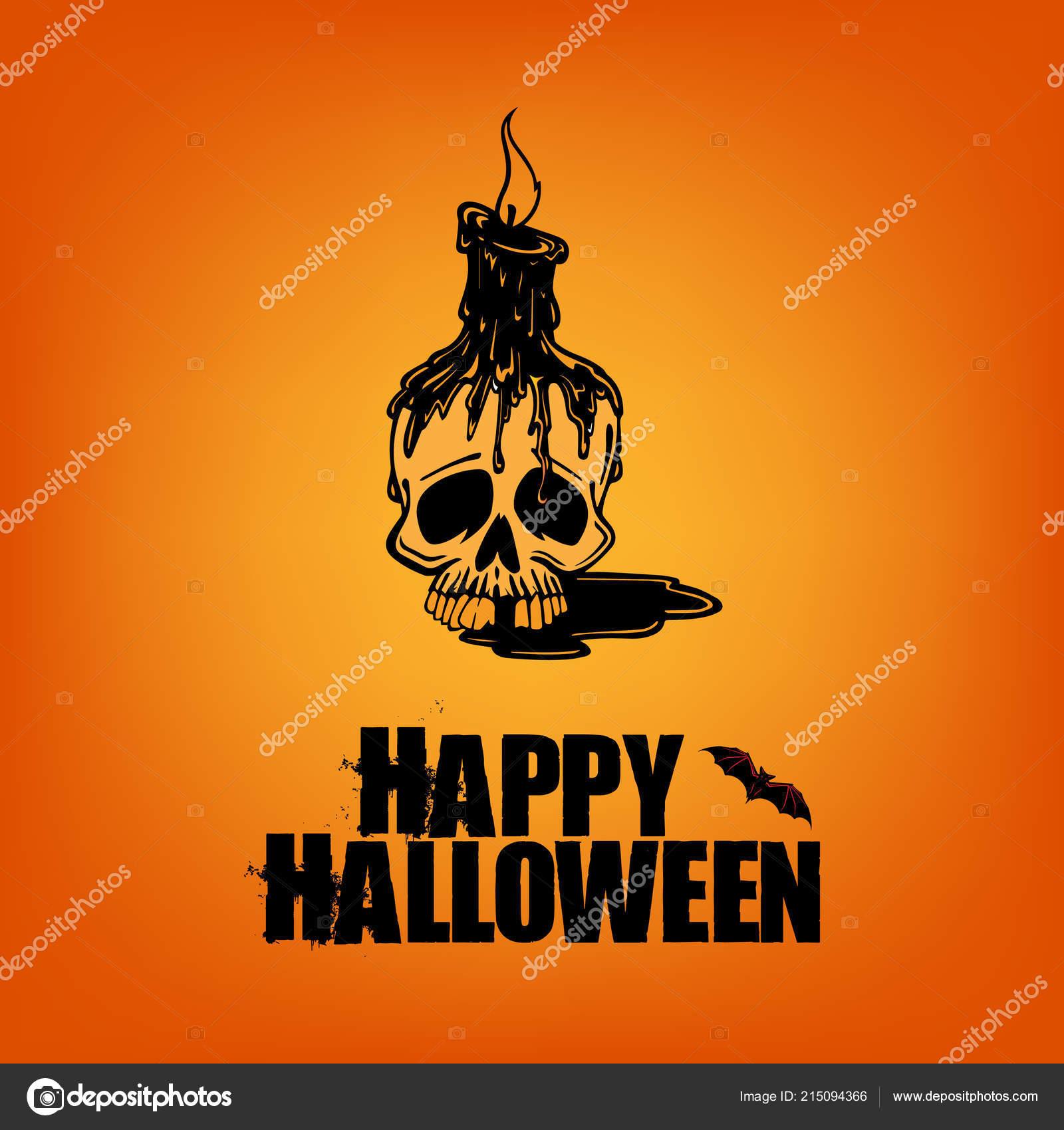 Happy Halloween Poster Wallpaper Flyer Design Scary Skull