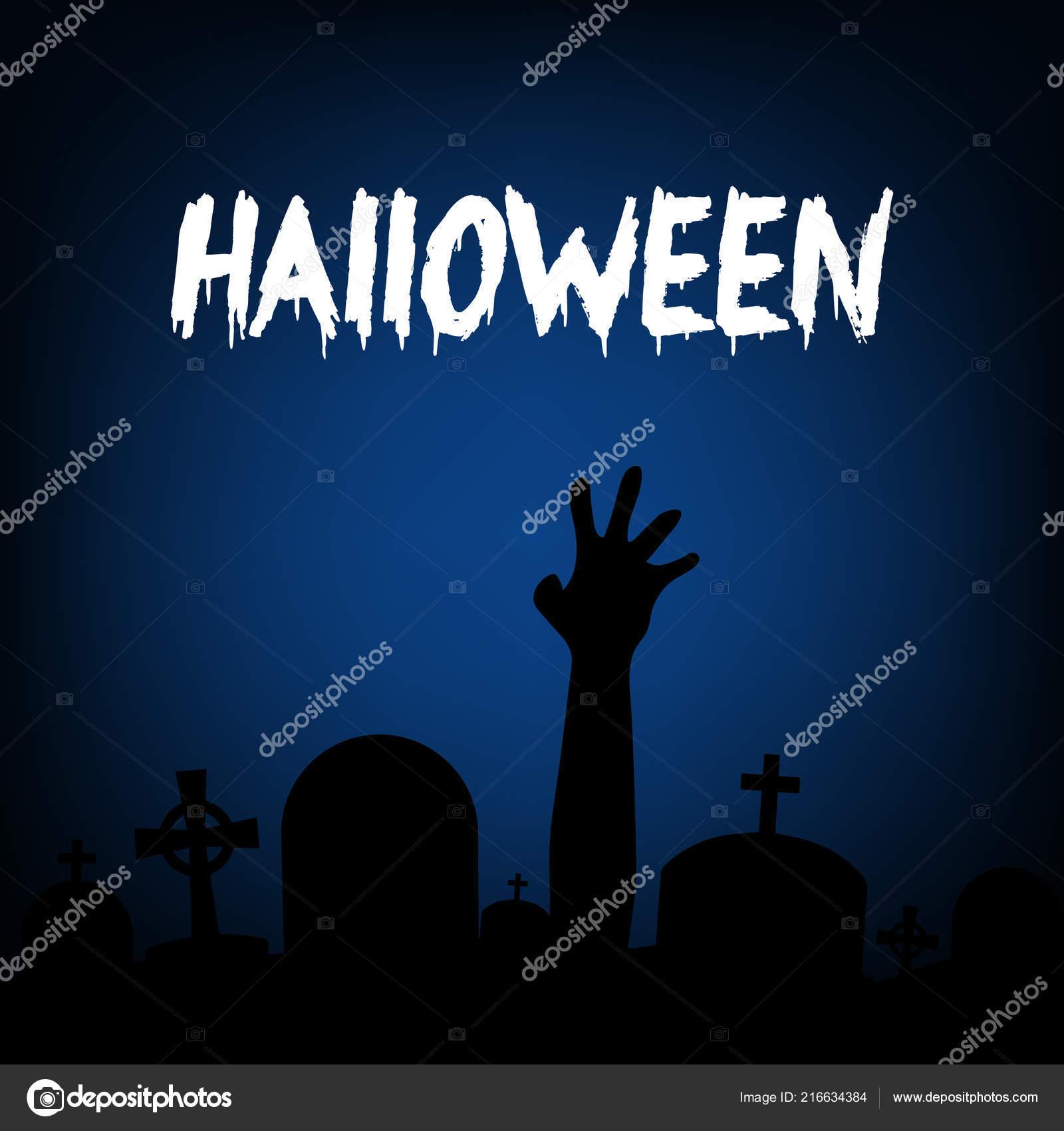 Diseño Vectores Halloween Zombie Partido Invitación Tarjeta