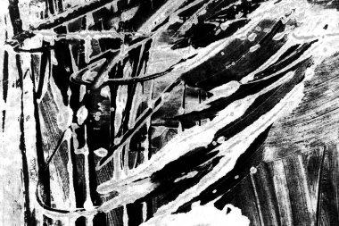 white black paint brush strokes background