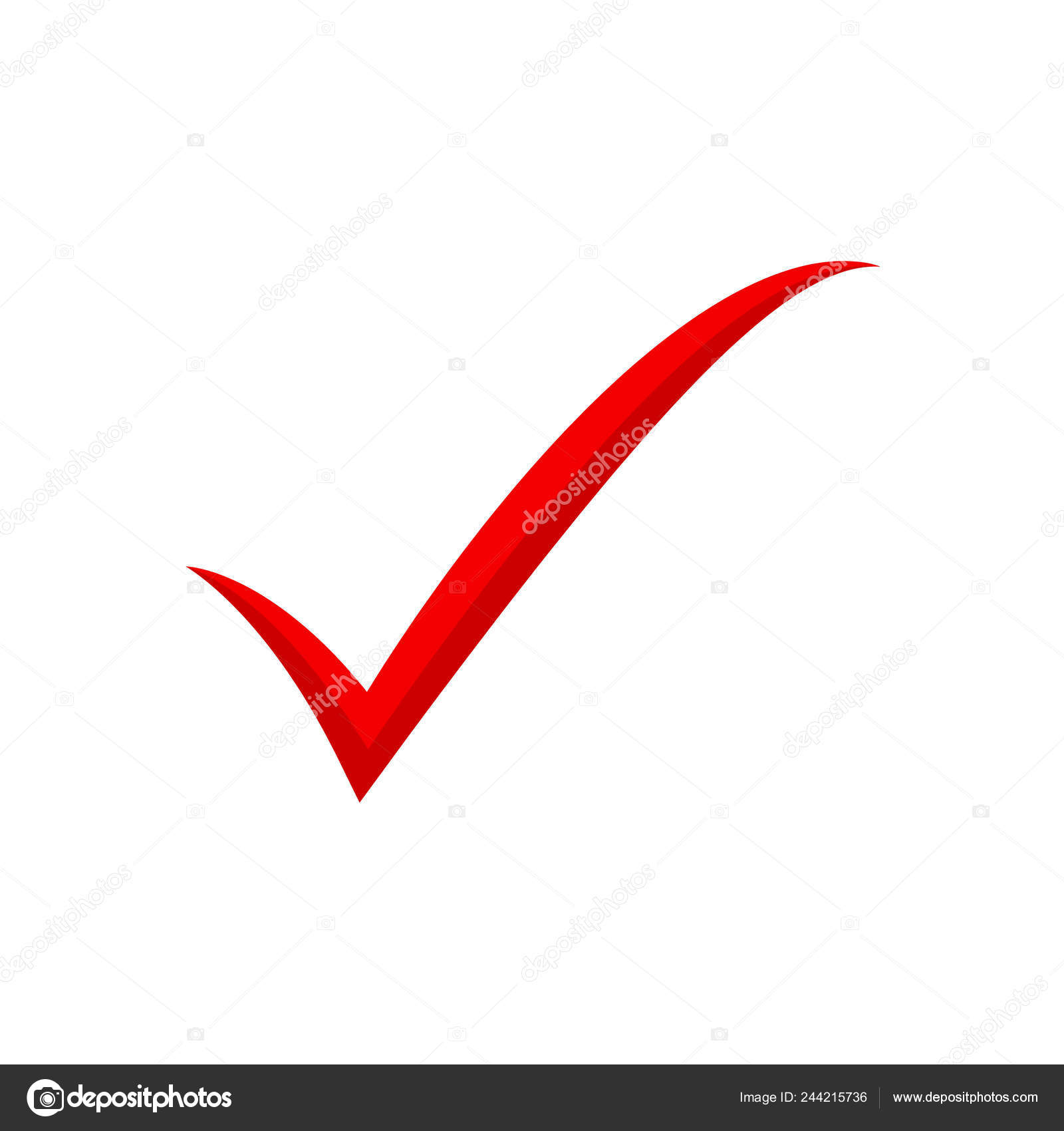 Red Check Mark Icon Tick Symbol Tick Icon Vector Illustration