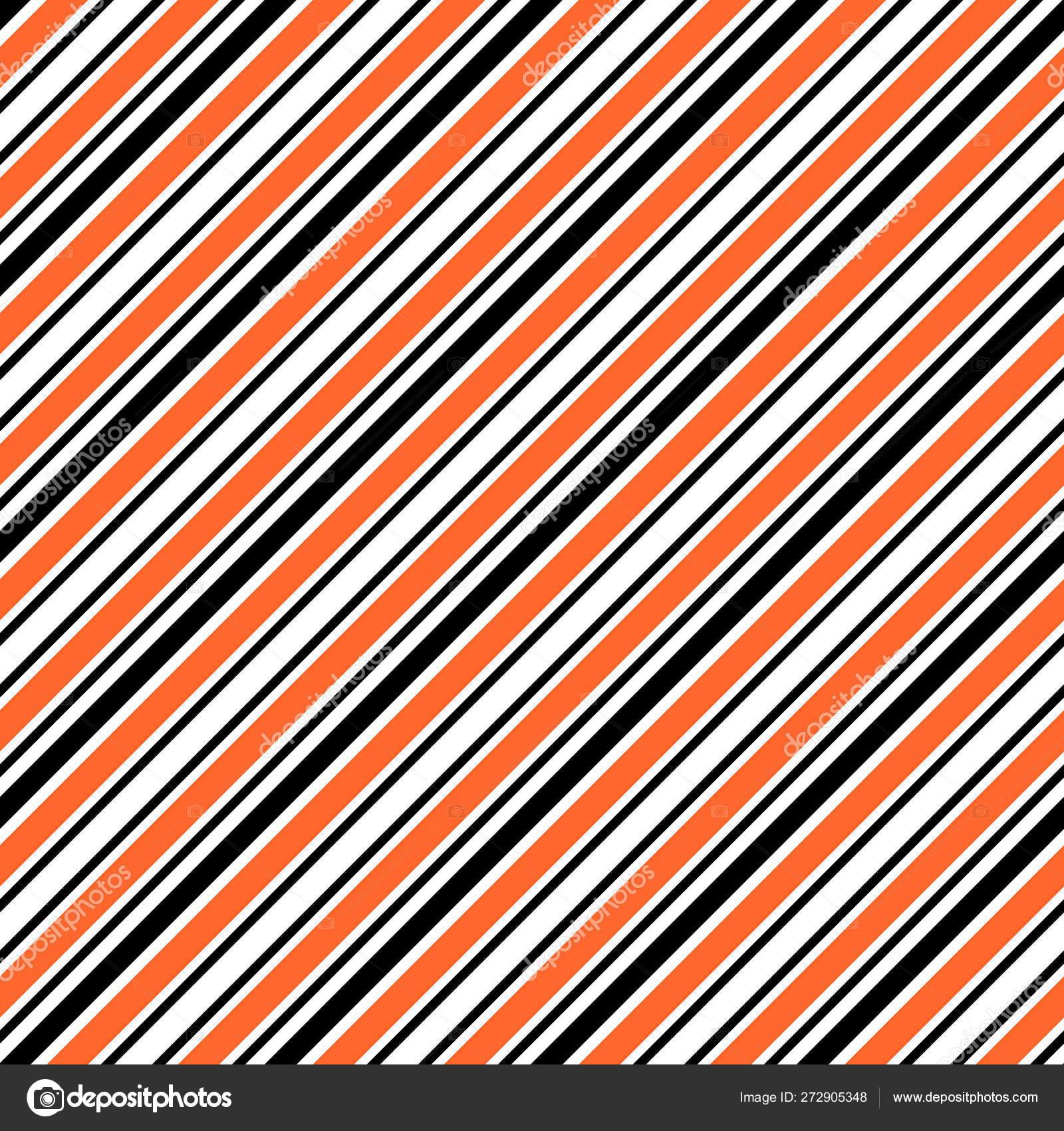 Halloween Stripes Seamless Pattern - Black, orange, and