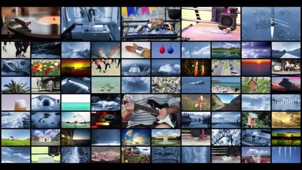 Concetto di tecnologia di produzione televisiva come sfondo Video Wall, video 4K