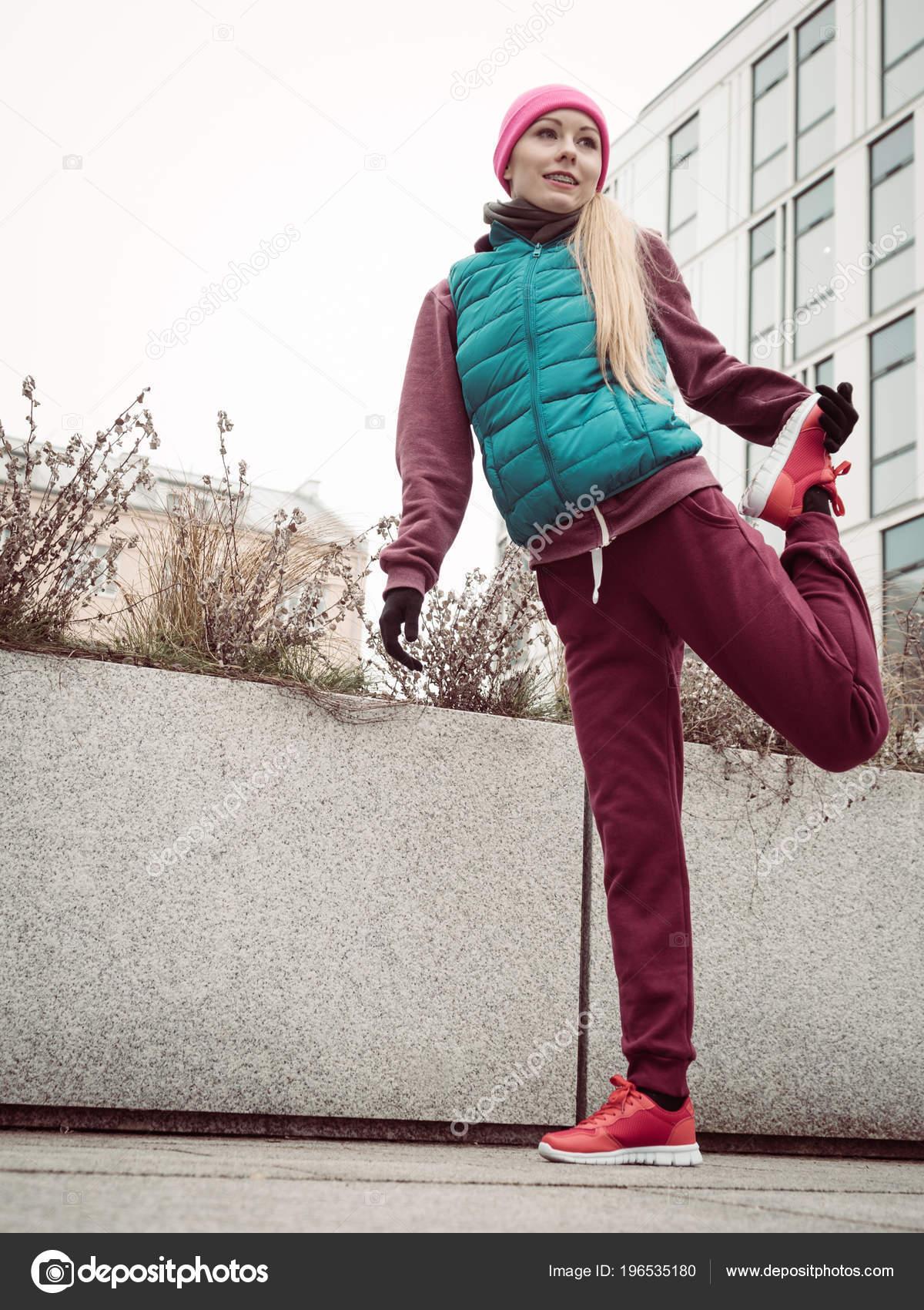 Sporty fit teen girls